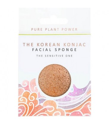 "ELEMENTS ""AIR""- CHAMOMILE & PINK CLAY KONJAC FACIAL PUFF SPONGE"